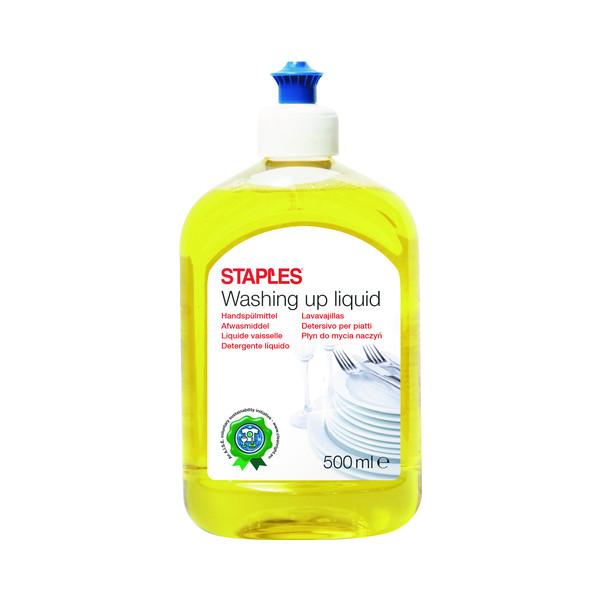 STAPLES Geschirrspülmittel 2018261 Zitrone 2x 500ml Flasche