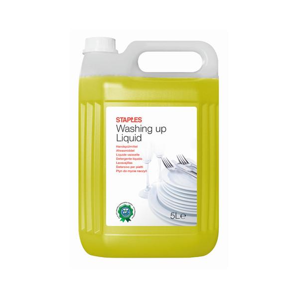 STAPLES Geschirrspülmittel 2096206 Zitrone 5 Liter Kanister