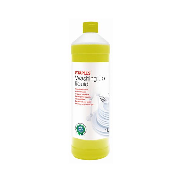 STAPLES Geschirrspülmittel 2377734 Zitrone 2x 1 Liter Flasche