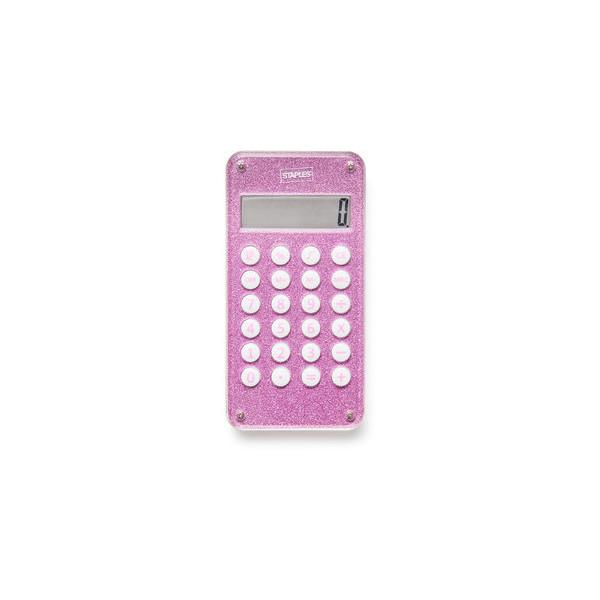 Staples Maze Taschenrechner Glitter pink 8stellig