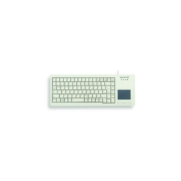 CHERRY PC-Tastatur XS Touchpad Keyboard G84-5500LUMDE-0, mit Kabel (USB), mechanische Tasten, Touchpad, grau