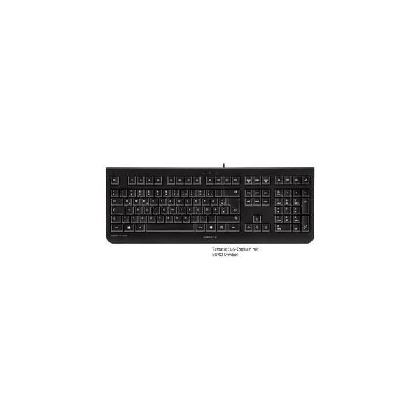 CHERRY Tastatur KC 1000, US-Englisch mit EURO Symbol, USB, schwarz