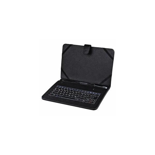 hama Tablet-Tastatur Universal OTG 182501, mit Kabel (USB-2.0-Micro-B-Stecker-OTG), Sondertasten, schwarz