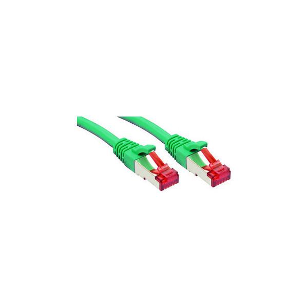LINDY Patchkabel CAT 6 PIMF, S/FTP, 2xRJ45-ST/ST, L: 2 m, grün
