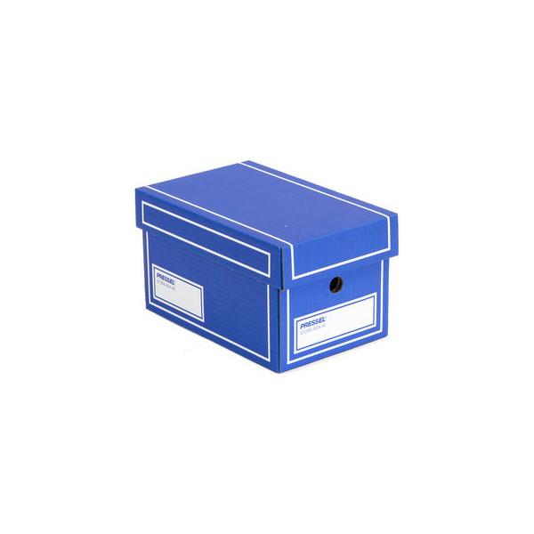 Pressel Aufbewahrungsbox, mit Deckel, Grifflöcher, 27,5 x 17,5 x 15,5 cm, blau