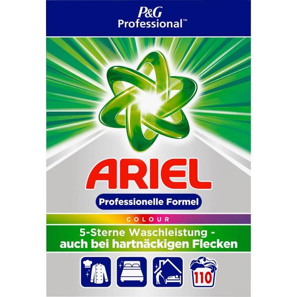Ariel Waschmittel Professional, Colour, Pulver, Karton, für 110 Reinigungen