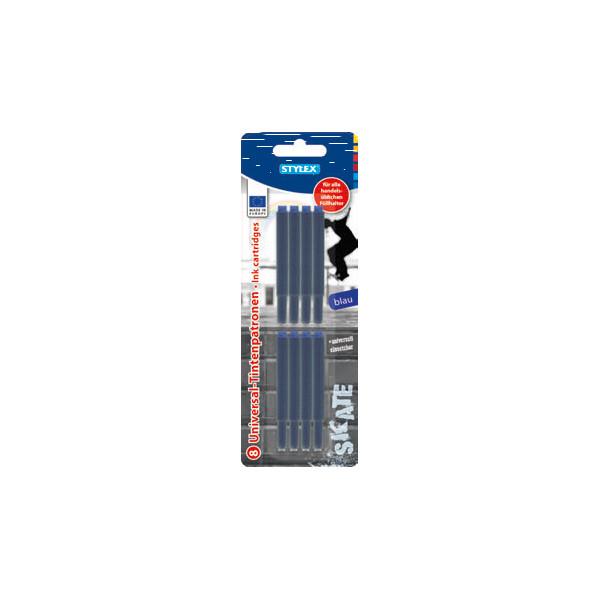 Stylex Füllerpatronen 23014 königsblau 8 Stück