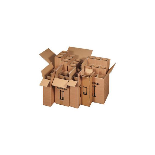 smartboxpro Versandkarton, für 2 Flaschen, Wellpappe, i: 204 x 108 x 368 mm, braun