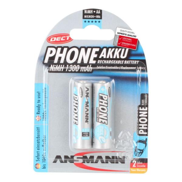 Ansmann Mignon (AA)-Akku NiMH Ansmann DECT maxE HR06 1300 mAh 1.2 V 2 St.