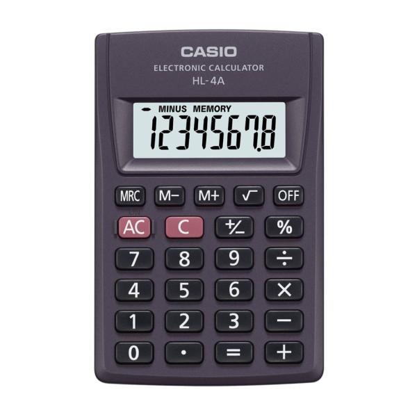 Casio Casio Taschenrechner HL-4A Casio HL-4A Anthrazit