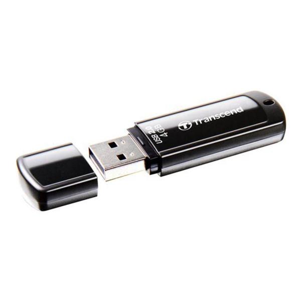 Transcend USB-Stick 4 GB Transcend JetFlash® 350 Schwarz TS4GJF350 USB 2.0