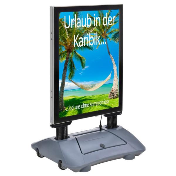 update displays update displays Kundenstopper WindPro LED