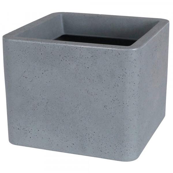 Lea Pflanzkübel Kunststoff 39,0 x 39,0 x 31,0 cm grau
