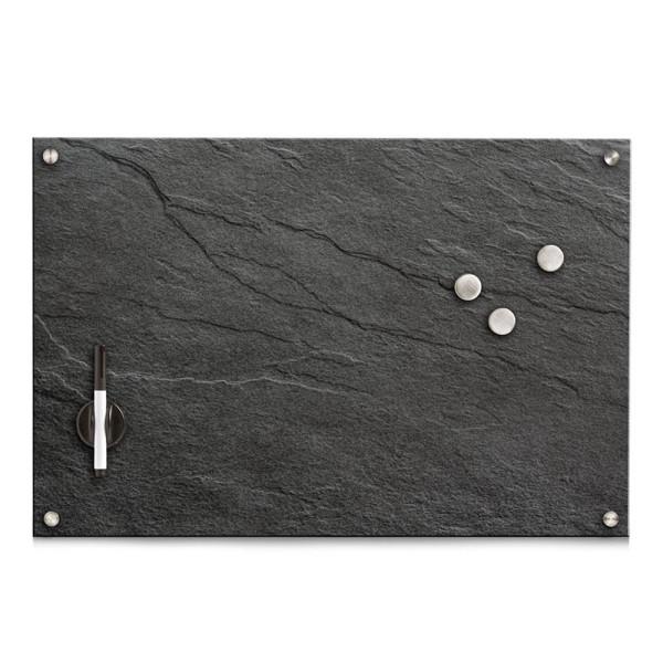 Zeller Glas-Magnettafel 60,0 x 40,0 cm Schiefer anthrazit