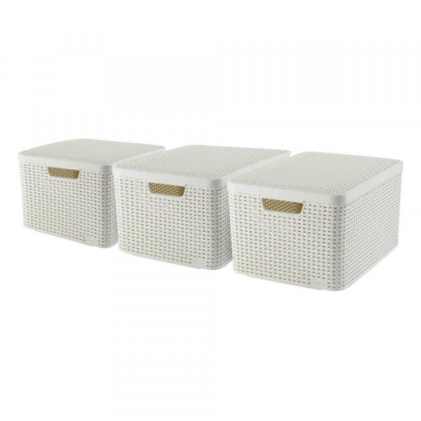 curver curver STYLE L Aufbewahrungsboxen beige 44,5 x 33,0 x 24,8 cm