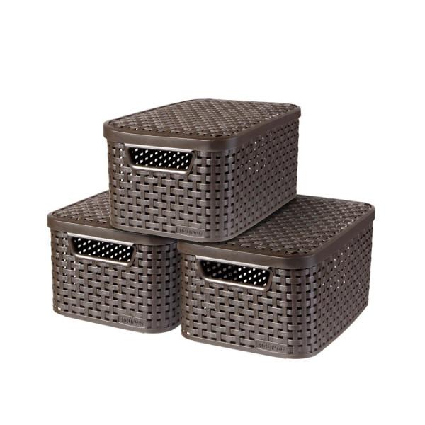 curver curver STYLE S Aufbewahrungsboxen braun 29,1 x 19,8 x 14,2 cm