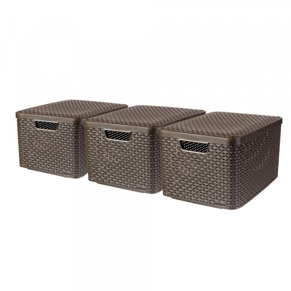 curver curver STYLE L Aufbewahrungsboxen braun 44,5 x 33,0 x 24,8 cm