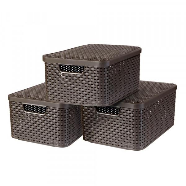 curver curver STYLE M Aufbewahrungsboxen braun 39,7 x 29,0 x 18,7 cm