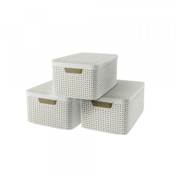 curver curver STYLE M Aufbewahrungsboxen beige 39,7 x 29,0 x 18,7 cm