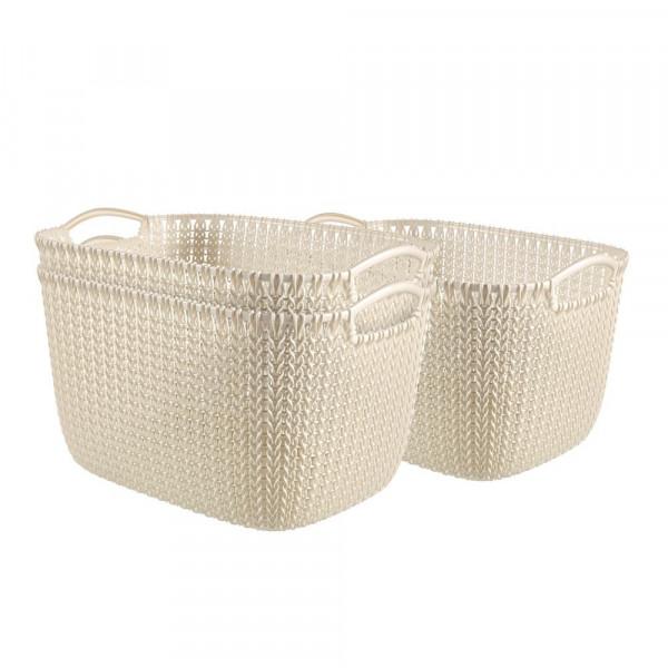 curver curver KNIT L Aufbewahrungsboxen weiß 39,6 x 28,8 x 23,6 cm