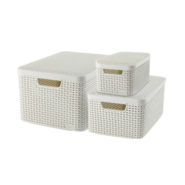 curver curver STYLE Aufbewahrungsboxen beige 44,5 x 33,0 x 24,8 cm