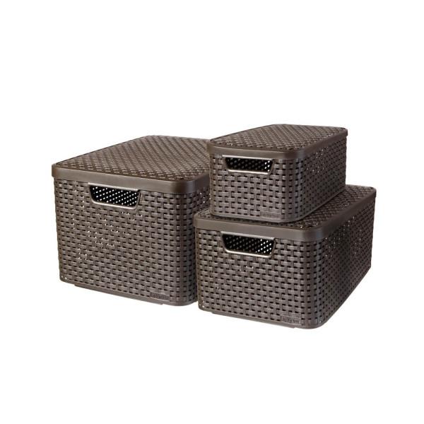 curver curver STYLE Aufbewahrungsboxen braun 44,5 x 33,0 x 24,8 cm