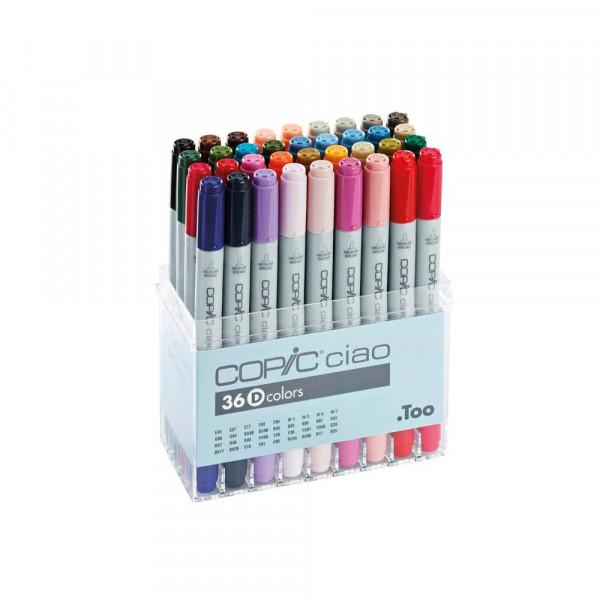 COPIC 36 COPIC® Ciao D Layoutmarker farbsortiert 1,0 + 6,0