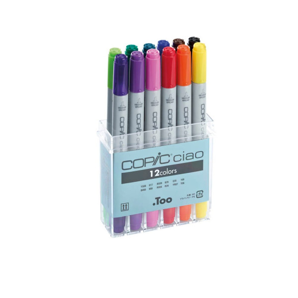 COPIC 12 COPIC® Ciao Layoutmarker farbsortiert 1,0 + 6,0