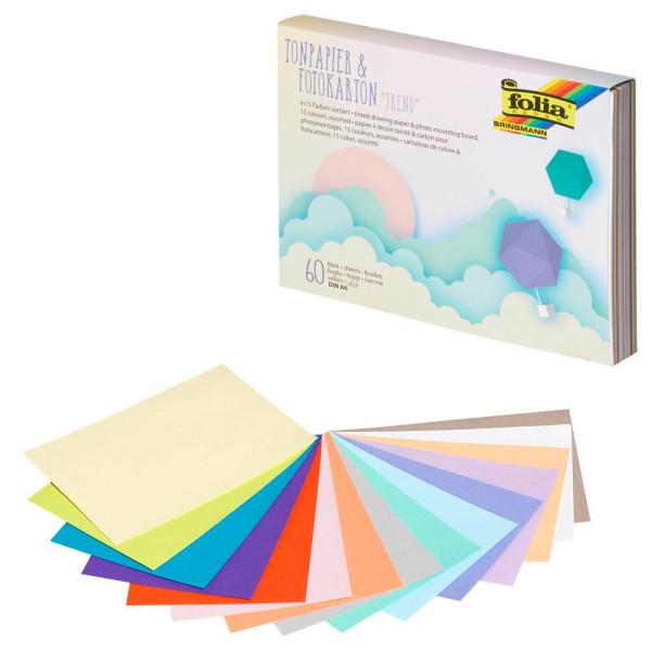folia Tonzeichenpapier A6 130 und 300 g/qm