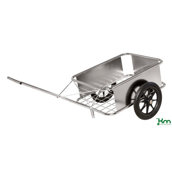 Kongamek Karren rostfrei bis 150 kg 2 unplattbare Reifen 1650x830x502mm KM07390