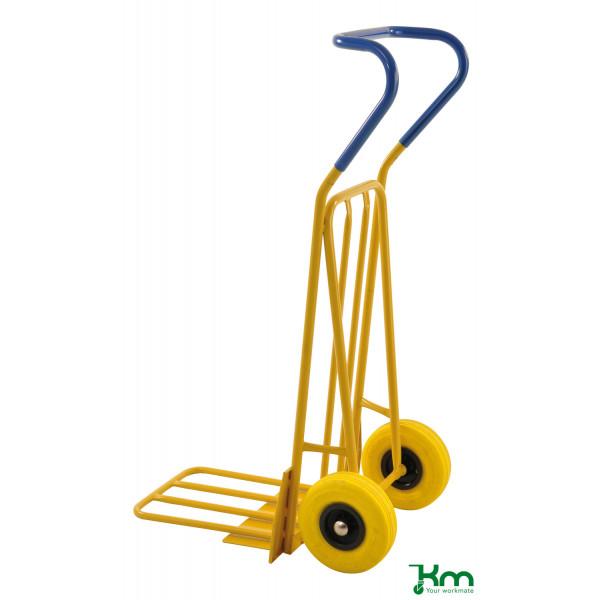 Kongamek Karren gelb bis 250 kg Unplattbare PU Reifen 780x560x1320mm KM104-HPF