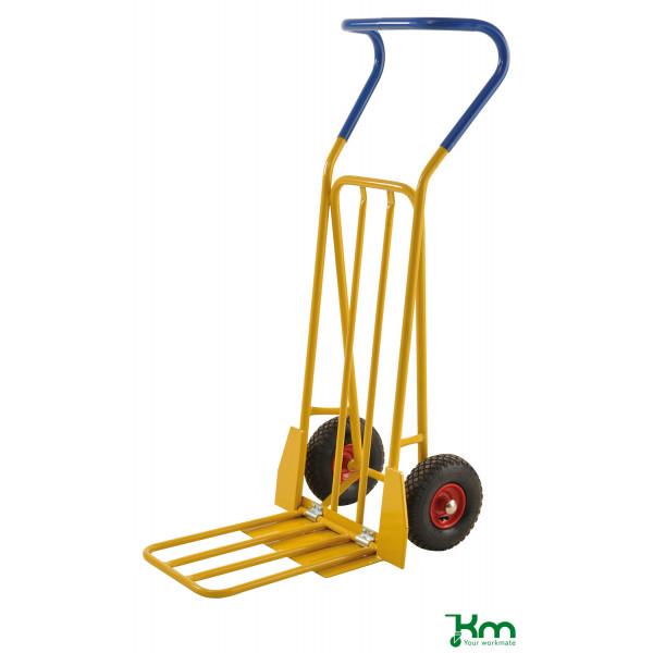 Kongamek Karren gelb bis 250 kg Unplattbare Räder 780x560x1320mm KM104-HPFR