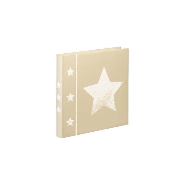 hama Fotoalbum, Skies, Jumbo, Karton, weiß, 30 x 30 cm, beige, 30 Blatt
