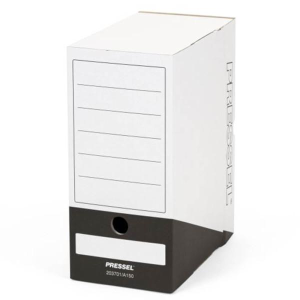 Pressel Archivbox, A150, Steckverschluss, A4, 15x26x32cm, weiß