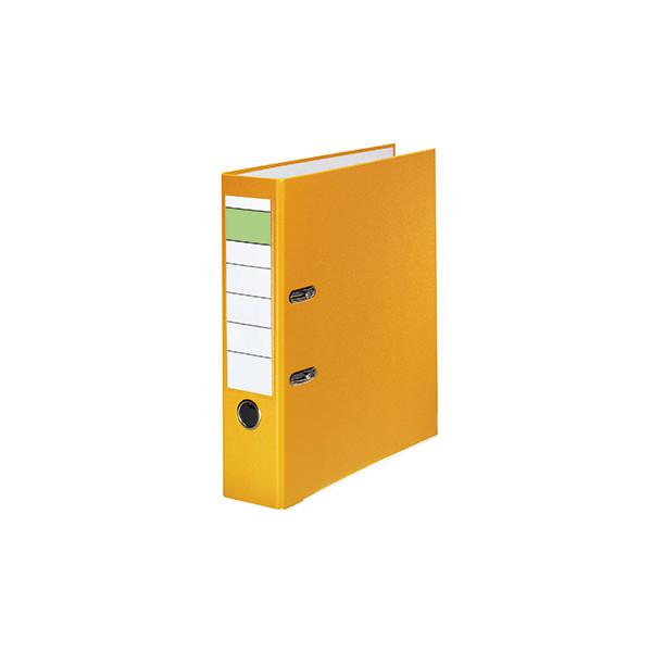 Ordner 80mm DIN A4 Werkstoff: Pappe Material der Kaschierung aussen: Polypropylen Material der Kaschierung innen: Papier gelb