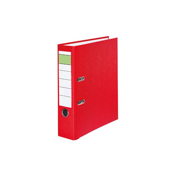 Ordner 80mm DIN A4 Werkstoff: Pappe Material der Kaschierung aussen: Polypropylen Material der Kaschierung innen: Papier rot