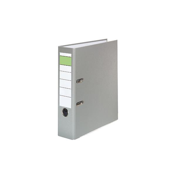 Ordner 80mm DIN A4 Werkstoff: Pappe Material der Kaschierung außen: Polypropylen Material der Kaschierung innen: Papier grau