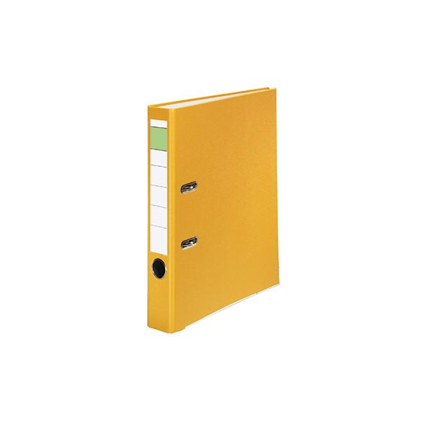 Ordner 50mm DIN A4 Werkstoff: Pappe Material der Kaschierung außen: Polypropylen Material der Kaschierung innen: Papier gelb