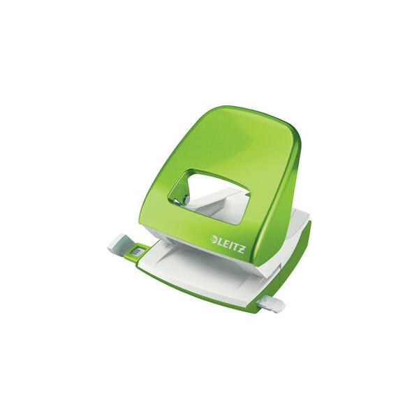 Leitz Locher NeXXt WOW 8 cm 30 Bl. (80 g/m²) mit Anschlagschiene grün