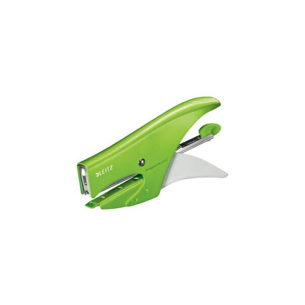 Leitz Heftzange WOW P2, No. 10 fest 15 Bl. (80 g/m˛) Metall grün