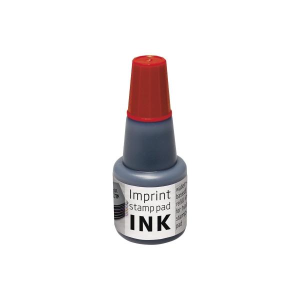 Stempelfarbe Stempelkissen Imprint rot Kunststoffflasche 24ml