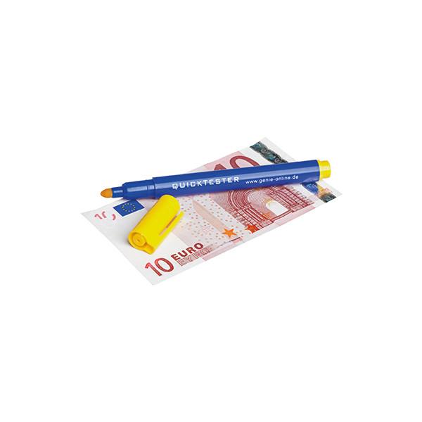 GENIE Geldscheinprüfstift Quicktester Euro, US-Dollar, britische Pfund 1,5mm blau/gelb