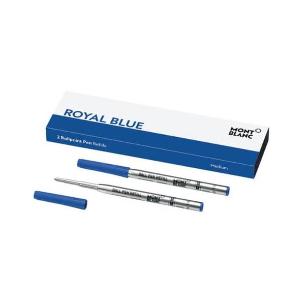 Montblanc Kugelschreibermine Montblanc Kugelschreiber 1mm M blau Ballpoint nicht dokumentenecht 2 St./Pack.