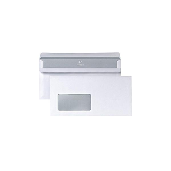 POSTHORN Briefumschlag DIN lang 220 x 110 mm (B x H) mit Fenster 75g/m² mit Selbstklebung Papier weiss