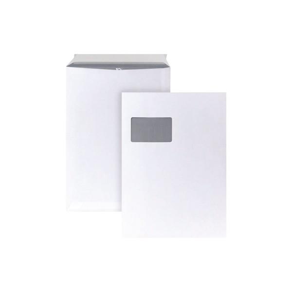 BONG Versandtasche DIN C4 mit Fenster 120g/m² mit Haftklebung Papier weiss 10 St./Pack.