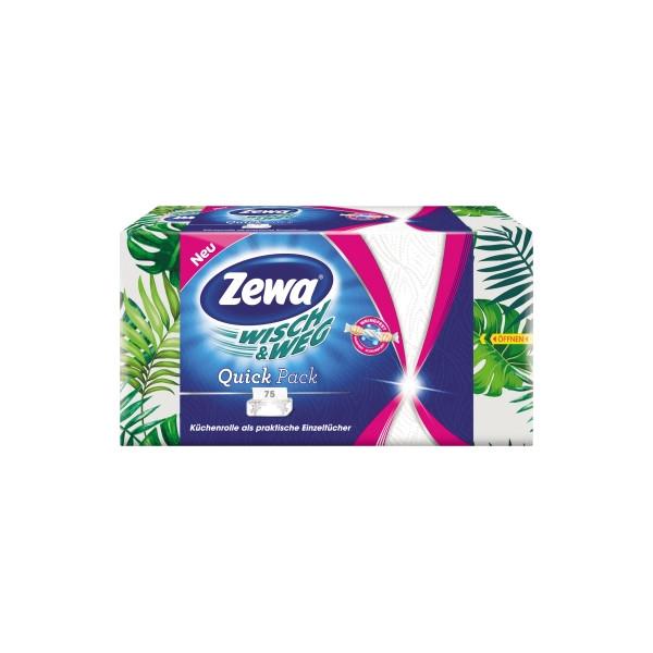Zewa Wischtuch Wisch & Weg Papier weiss 75 Bl./Pack.