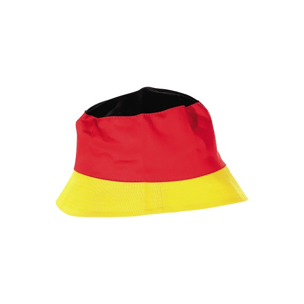 Mütze Deutschland 100 % Baumwolle schwarz/rot/gelb