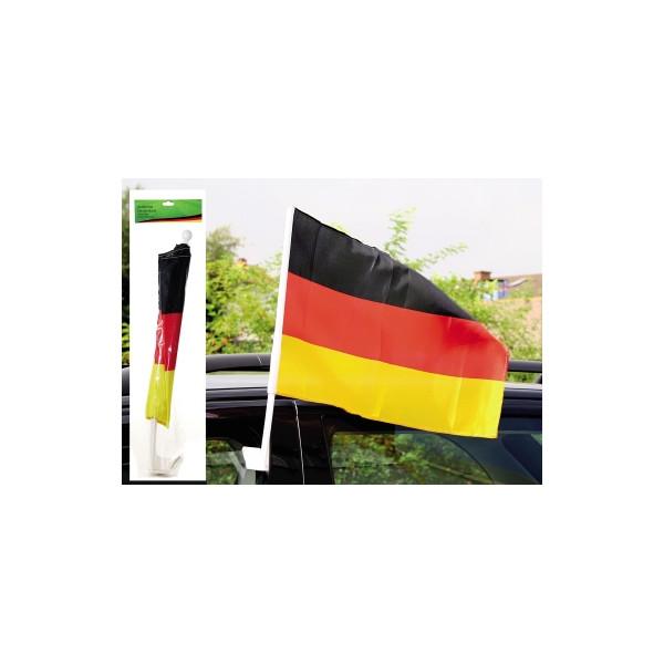 Autofahne Deutschland 30 x 45 cm (B x H) 100 % Polyester schwarz/rot/gelb