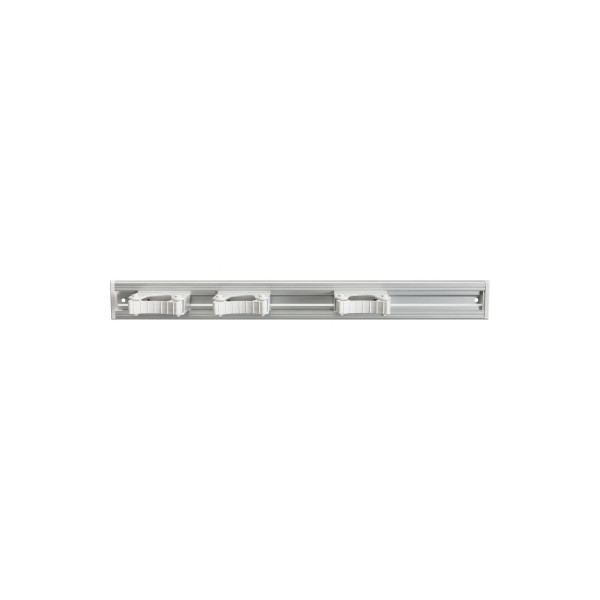 haug Gerätehalter 51 x 5,5 x 8,5 (B x H x T) 3 Greifer Aluminium grau/weiß