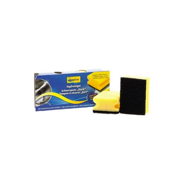 aQualine Topfreiniger 9,5 x 7 x 4,5 cm (B x H x T) 100 % Polyurethan gelb 3 St./Pack.